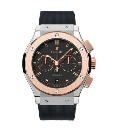 hublot-classic-fusion-chronograph-automatic-rose-gold-steel-black-dial-42-mm-h541-no-1180-rx