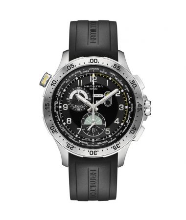 Hamilton Khaki Aviation Worldtimer Chrono Quartz 45 mm H76714335