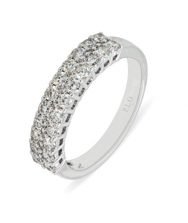 Anillo solitario de oro blanco diamantes 0,51 quilates Color G Pureza VS