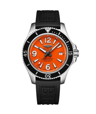 Breitling Superocean Automatic Orange Dial Rubber Strap 42 mm