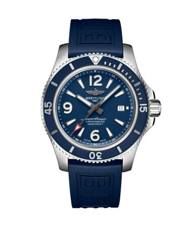 Breitling Superocean Automatic Blue Dial Rubber Strap 44mm