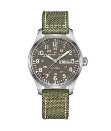 Hamilton Khaki Field Field Day Date Auto Green Dial 42 mm H70535081