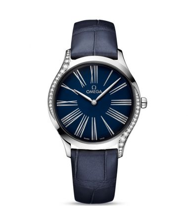 Omega De Ville Trésor Quartz Blue Dial Diamonds 36 mm 428.18.36.60.03.001