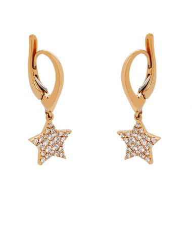 Rose Gold earrings with diamonds 0.40 carats