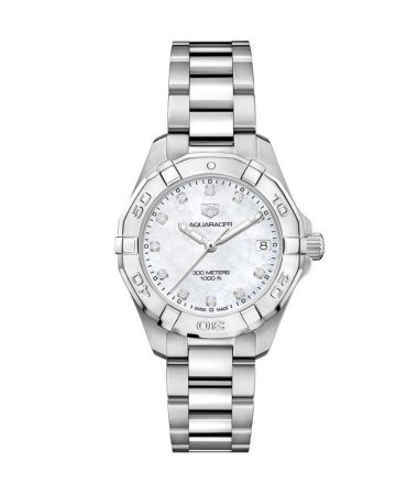 TAG Heuer Aquaracer Lady 300M Mother Of Pearl Dial & Diamonds
