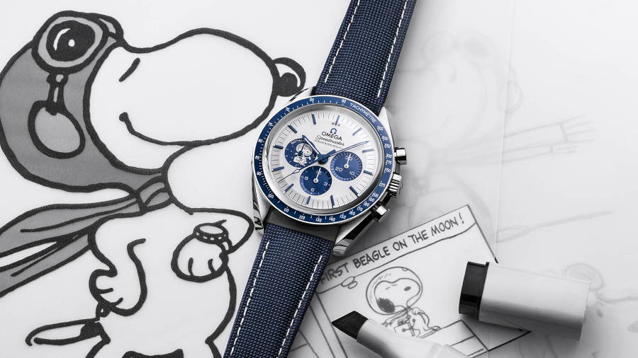"""OMEGA launches the Speedmaster """"Silver Snoopy Award"""" 50th Anniversary"""