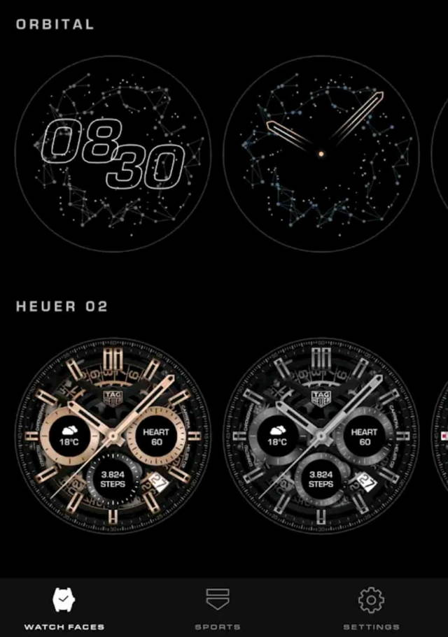 TAG Heuer Surfaces App
