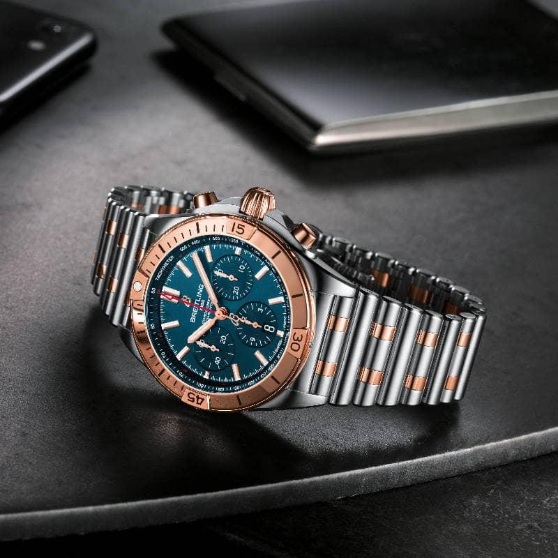 Breitling Chronomat B01 Acero y Oro Rojo de 18 k UB0134101B1U1