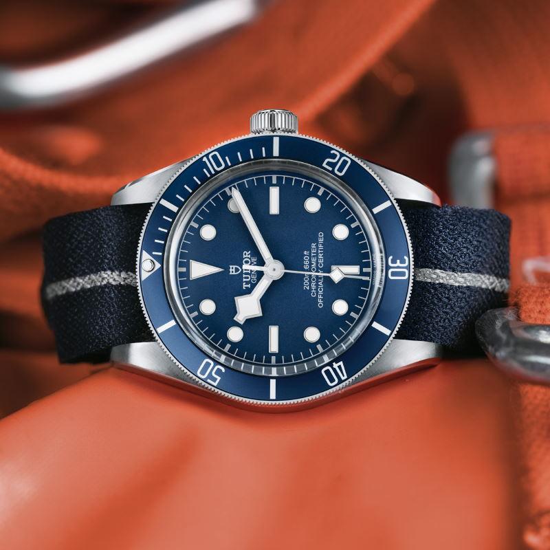 tudor black bay 58 navy blue fabric strap